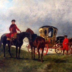 John Lewis Brown Oil Painting on Wood, Framed