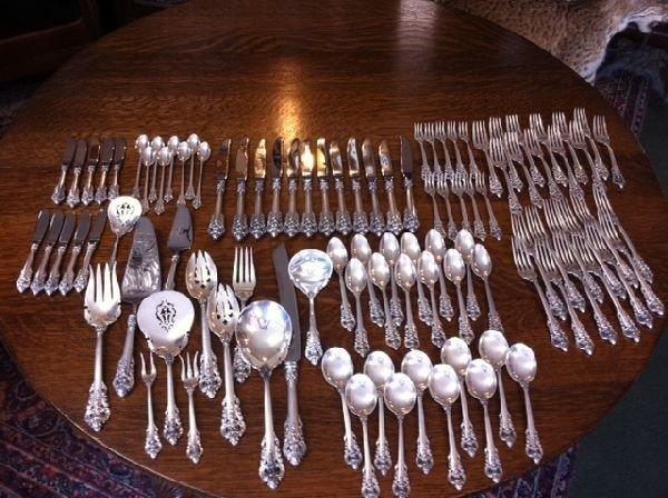 Wallace 'Grand Baroque' Sterling Silverware Set