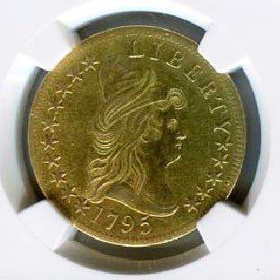 1795 13 Leaves $10 Eagle Gold Coin-NGC AU Details