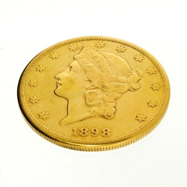 1898-S U.S. $20 Liberty Head Gold Coin - Investment