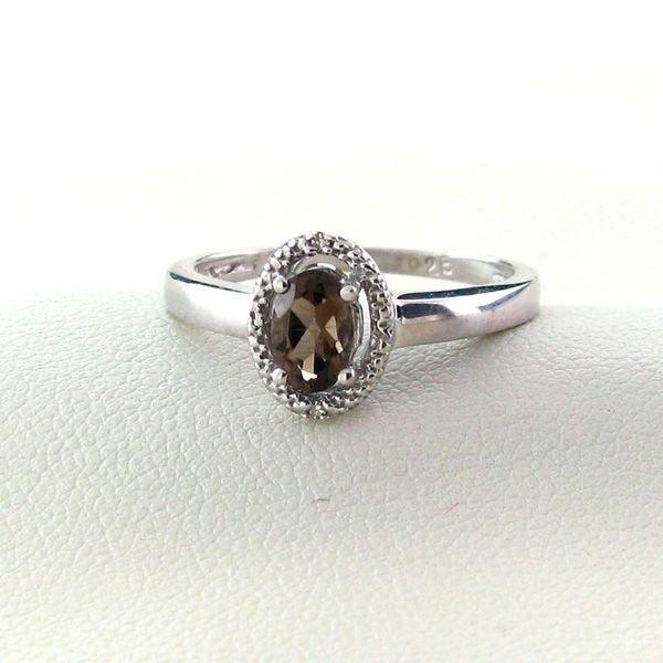 18kt Gold, Smoky Quartz & Overlaid Silver Ring