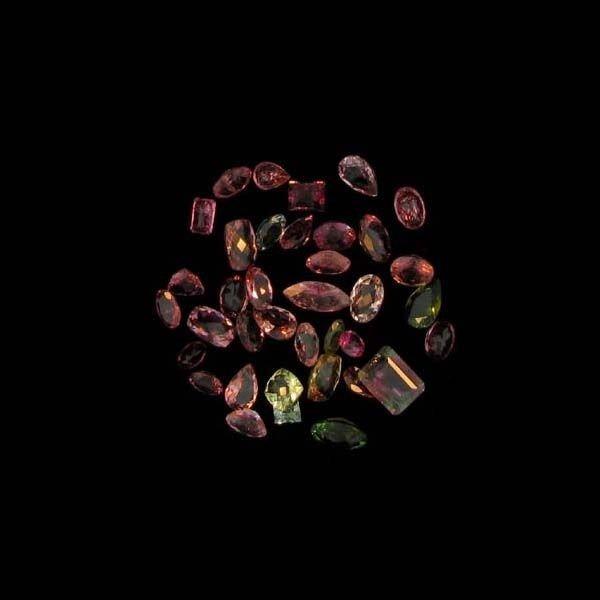 APP: 3k 20CTMulti-Colored, Mix Cut Tourmaline Parcel
