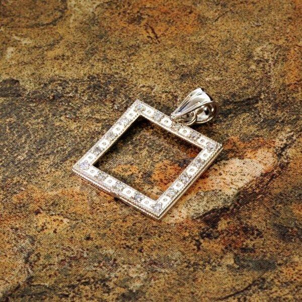 14 kt. White Gold, Charm Pendant
