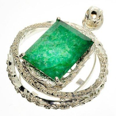 APP: 16.6k 63.10CT Emerald & Sterling Silver Pendant