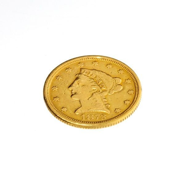 1873 $2.5 U.S. Liberty Head Gold Coin - Investment