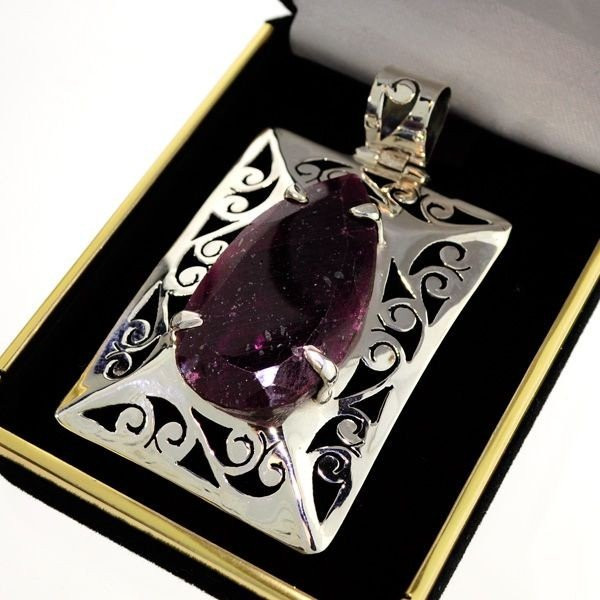 APP: 17.4k 64.73CT Ruby & Sterling Silver Pendant
