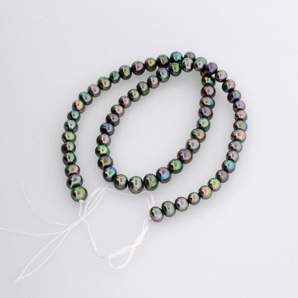 Black Pearl Strand Necklace