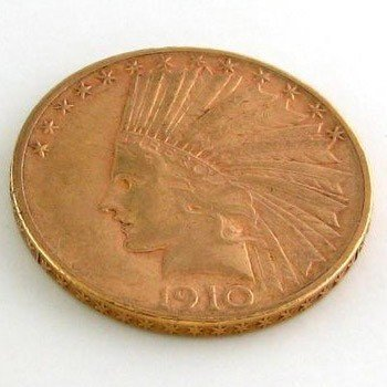 1910-S U.S. $10 5 Head Gold  Coin - Investment