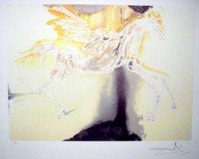 SALVADOR DALI Pegasus Print, Limited Edition