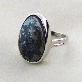 APP: 5.5k 20.19CT Boulder Opal & Sterling Silver Ring