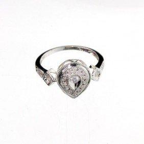 APP: 1k 18kt Gold, 2CT Diamond & Overlaid Silver Ring