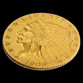 1909 U.S. $2.5 Indian Head Gold Coin - Investment