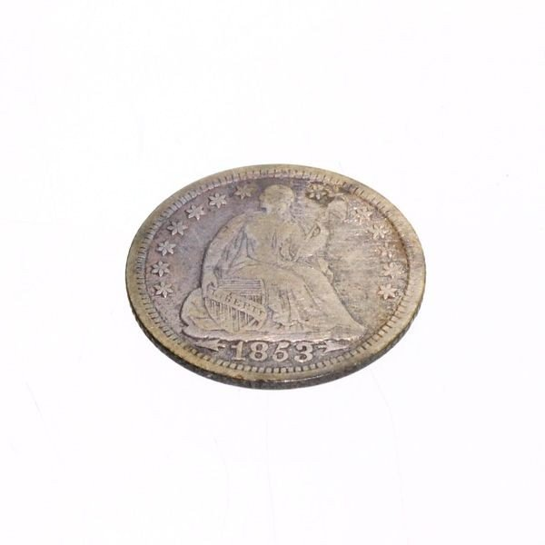1853-w/A U.S. Seated Liberty 1/2 Dime Coin - Investment