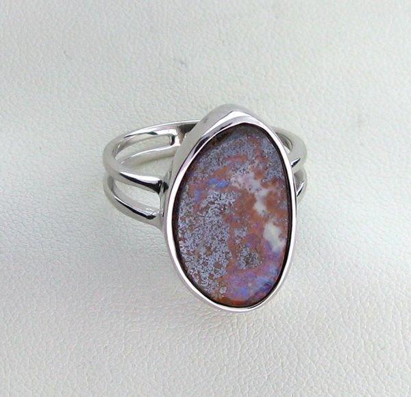 APP: 2.2k 11.88CT Boulder Opal & Sterling Silver Ring