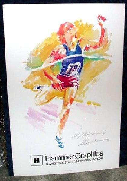 Hand Signed LeRoy Neiman: Finish Line