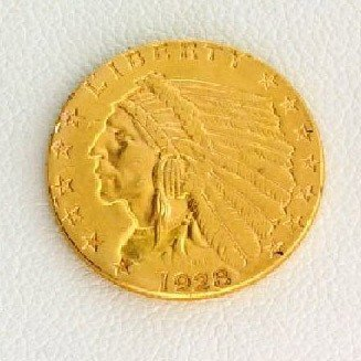 1928 $2.5 U.S. Indian Head Gold Coin - Investment