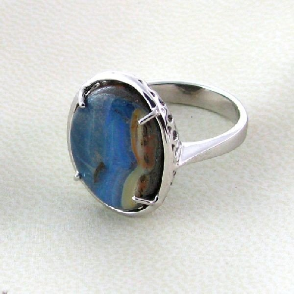 APP: 10.3k 11.44CT Boulder Opal & Sterling Silver Ring