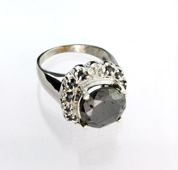 APP: 17k 14kt White Gold, 7k Diamond/Tourmaline Ring