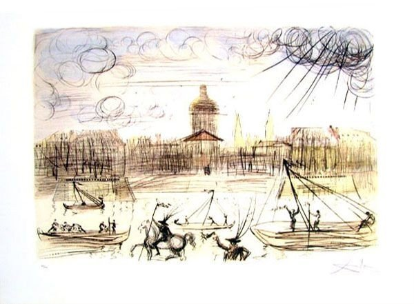 SALVADOR DALI Academy Of France Print, Limited Edition