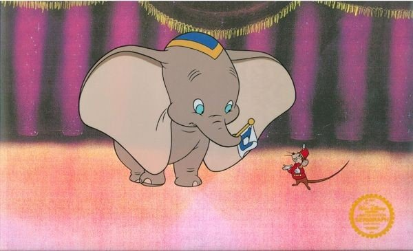 Disney Cel, Dumbo On Stage w/Certificate