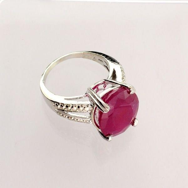 APP: 8.5k 8.21CT Ruby & Sterling Silver Ring