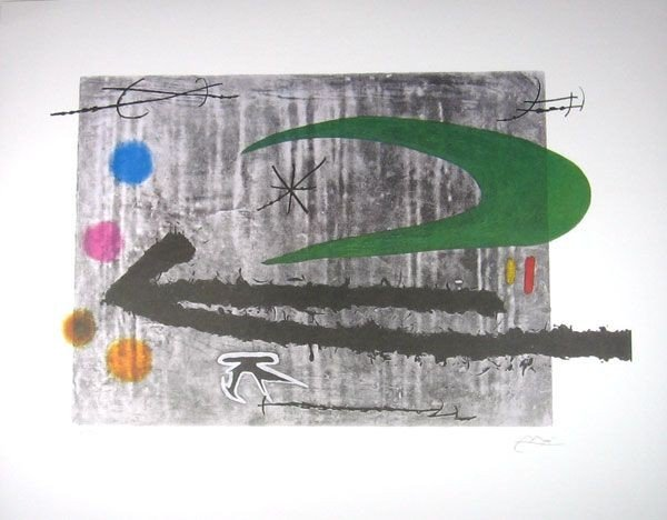 JOAN MIRO Toward the Left Print, Limited Edition