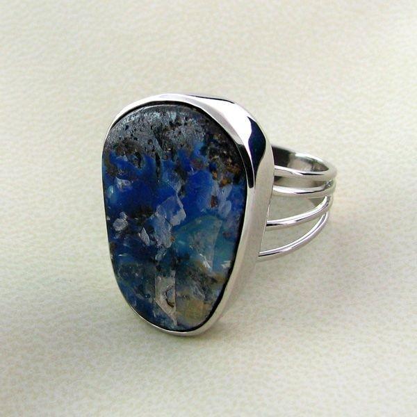 APP: 11.7k 31.48CT Boulder Opal & Sterling Silver Ring