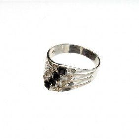 APP: 2k 14kt White Gold, 0k Tourmaline & Diamond Ring