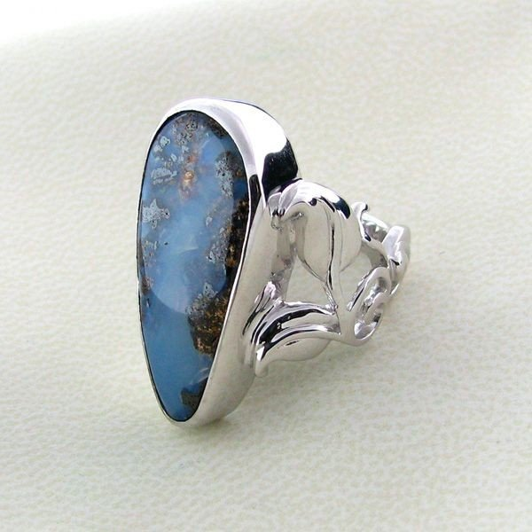 APP: 11.6k 24.50CT Boulder Opal & Sterling Silver Ring
