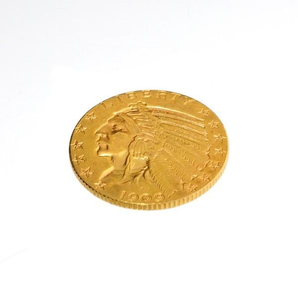 1909-D $5 U.S. Indian Head Gold Coin - Investment