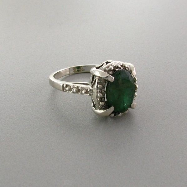 APP: 4.1k 2.57CT Emerald & Sterling Silver Ring
