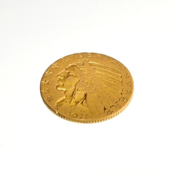 1911 $5 U.S. Indian Head Gold Coin - Investment