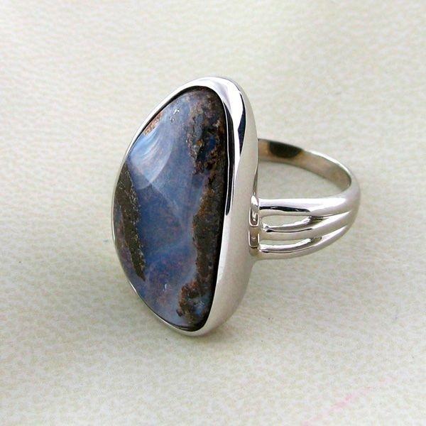 APP: 13.2k 18.19CT Boulder Opal & Sterling Silver Ring