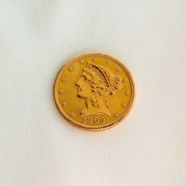 1903-S $5 U.S. Liberty Head Gold Coin - Investment
