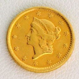 1852 $1 U.S. Liberty Head Gold Coin - Investment