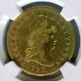 1795 13 Leaves $10 Improperly Cleaned Coin - Investment