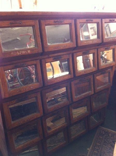 Antique Walker Bend General Store Cabinet PICK UP ONLY