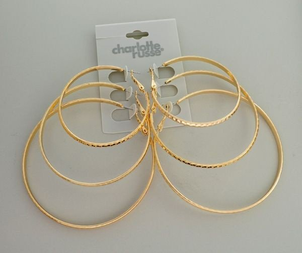 Charlotte Russe Jewelry - 3 Different Size Earrings Set