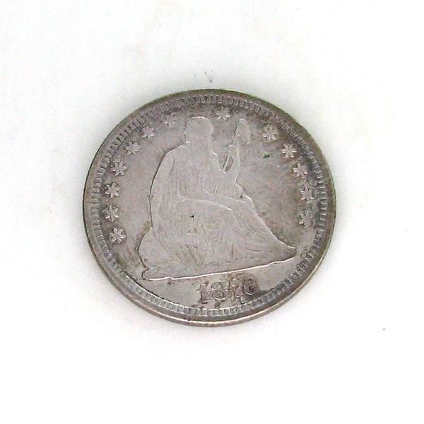1876 U.S. Seated Liberty Quarter Dollar  Coin