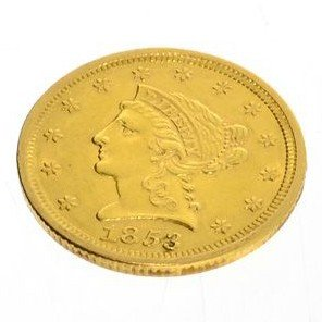 1853 $2.5 U.S. Liberty Head Gold Coin - Investment