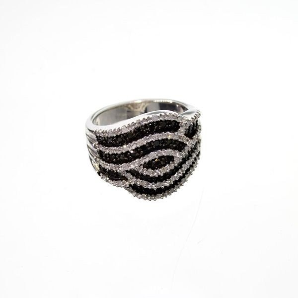 APP: 3k 0k Diamond Platinum Overlaid Sterl Silver Ring