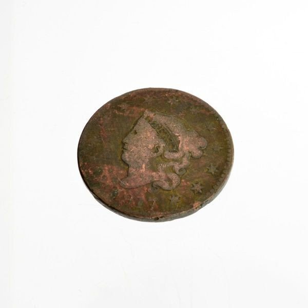 1817 Busted Liberty One Cent Coin - Investment