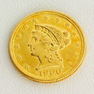 1900 $2.5 U.S. Liberty Head Gold Coin - Investment