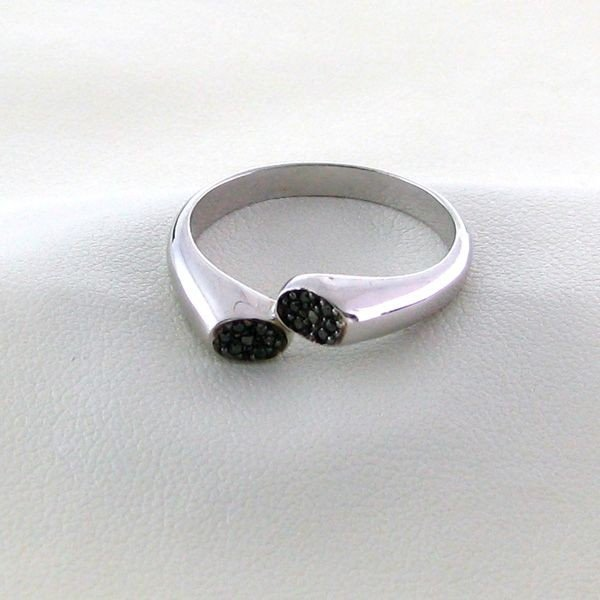 18kt Gold,Diamond & Overlaid Silver Ring