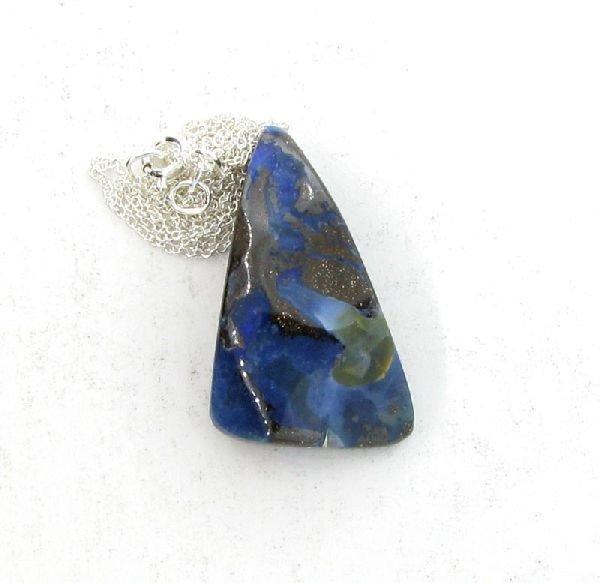 APP: 11.3k Boulder Opal & Sterling Silver Necklace