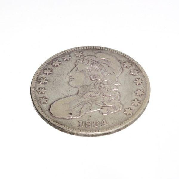 1834 U.S. Bust Capped Liberty 1/2 Dollar Coin