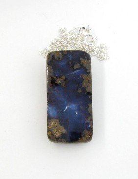 APP: 11.7k Boulder Opal & Sterling Silver Necklace