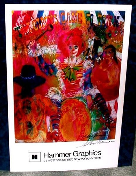 Hand Signed LeRoy Neiman: Circus