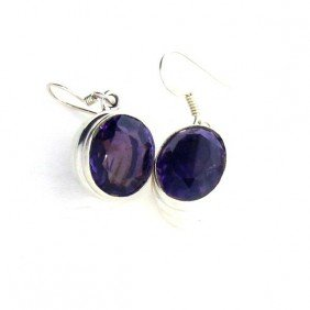 APP: 2k 13.60CT Amethyst & Sterling Silver Earrings