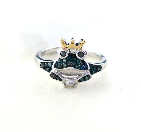 APP: 1k 18kt Gold, 1CT Diamond & Overlaid Silver Ring